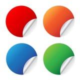 Blank stickers on white Stock Photos