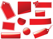 Blank stickies and labels Stock Photos
