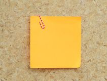 Blank sticky note Royalty Free Stock Photos