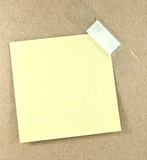 Blank sticky note Stock Photo