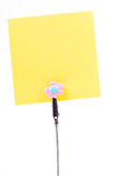 Blank sticky note Royalty Free Stock Photo