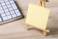 Blank Sticky Note With Keyboard Stock Photos