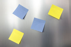 Blank sticky note reminders Stock Photography