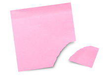 Blank sticky note with torn corner Royalty Free Stock Photo
