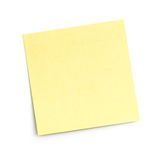 Blank sticky note on white Royalty Free Stock Photos