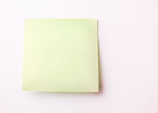 Blank Sticky Note Stock Image