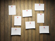 Blank sticky notes Royalty Free Stock Image
