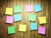 Blank sticky notes Stock Photos