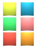 Blank Sticky Notes Royalty Free Stock Photos