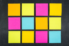 Blank Sticky Notes Stock Photo