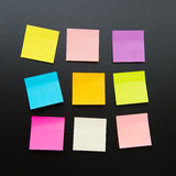 Blank sticky notes royalty free stock photography
