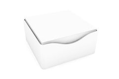 Blank Sticky Notes Stickers with a Holder Cases. On a white background Royalty Free Stock Photos