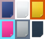 The blank stitched rectangle template set Stock Images