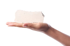 Blank Stone Block In Hand Royalty Free Stock Image