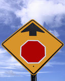 Blank stop ahead sign Royalty Free Stock Photo