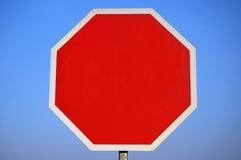Blank Stop Sign. stock photo