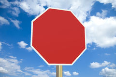 Blank stop sign with clipping path Stock Photography