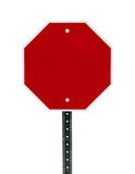 Blank Stop Sign Stock Image