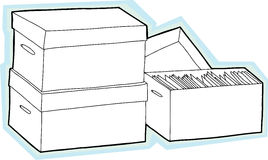 Blank Storage Boxes Royalty Free Stock Images