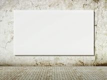Blank street advertising billboard on grunge wall Royalty Free Stock Photos
