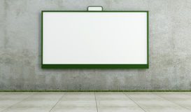 Blank street bilboard on dirty wall Royalty Free Stock Photos