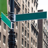Blank Street Corner Signs Stock Photo