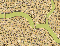 Blank street map Royalty Free Stock Images
