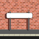 Blank Street Name Sign. Blank street or road name own text can be added Royalty Free Illustration