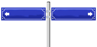 Free Blank Street Name Sign Stock Image - 37525521