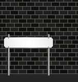 Blank street sign. And wall copy space for own text Stock Illustration