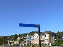 Blank Street Sign Stock Photo