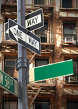 Blank street sign Royalty Free Stock Photo