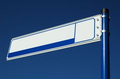 Blank street sign Royalty Free Stock Photography