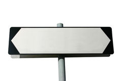 Blank street sign Stock Photography