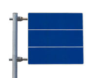 Blank street sign blue color Stock Images