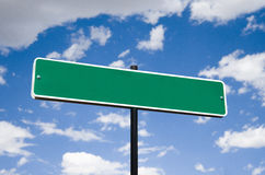 Blank street sign concept. Photorealistic 3D sky-high street sign concept royalty free stock photo