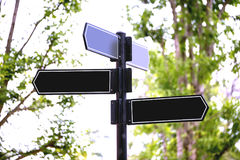 Blank street sign Royalty Free Stock Image