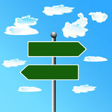 Blank, Street, sign, vector illustration. Vector illustration of street sign Royalty Free Illustration