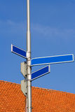 Blank street signs Stock Photography