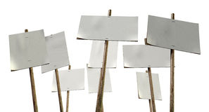 Blank Strikers Picket Plackards Royalty Free Stock Photos