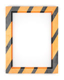 Blank striped metal frame Stock Images