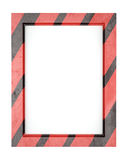 Blank striped metal frame Stock Photography