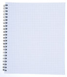 Blank striped note book Stock Images
