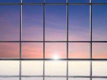 Blank studio with sunset sky Stock Image