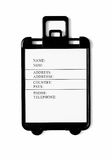 Blank suitcase tag Stock Photography