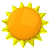blank sun för symbol 3d vektor illustrationer