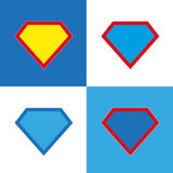 Blank super hero badge set. Superhero logo template. Blank super hero badge set. Vector illustration Stock Illustration