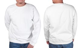 White sweater long sleeved shirt mockup template Stock Photos