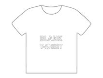 Blank t-shirt. Usable blank t-shirt model for t-shirt design Royalty Free Stock Photography