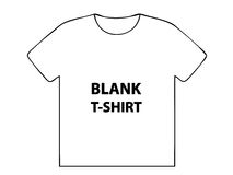 Blank T-shirt Stock Images